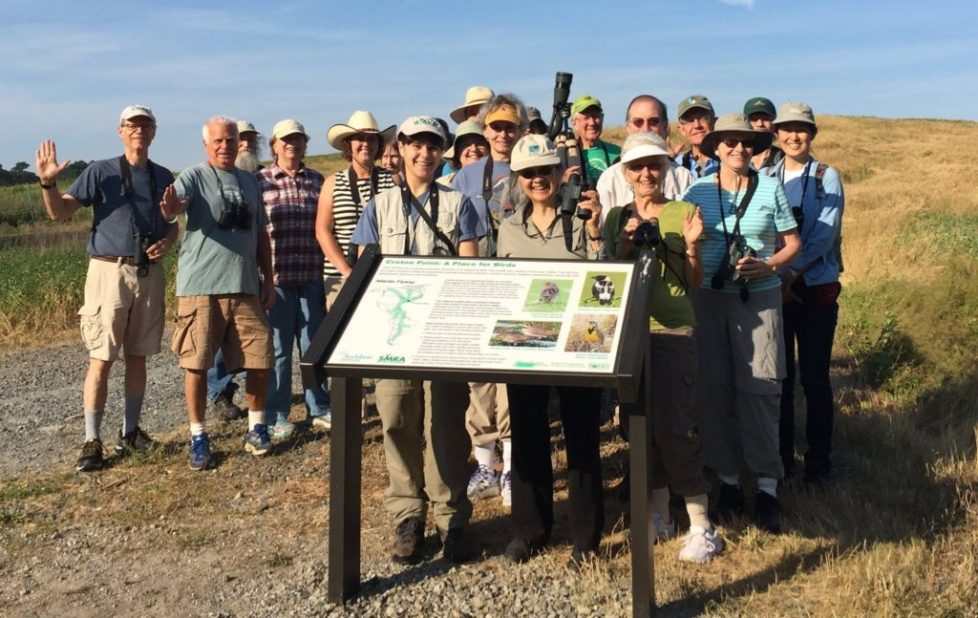 Celebrating the new sign at Croton Point! Photo: Anne Swaim