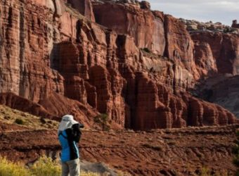 Exploring Capitol Reef. Photo: Rose DePalma